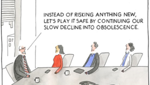 stretch yourself and come out of your comfort zone, slowly decline into obsolescence